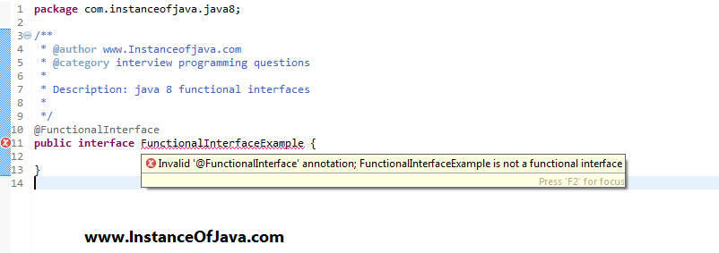 java functional interface tutorial