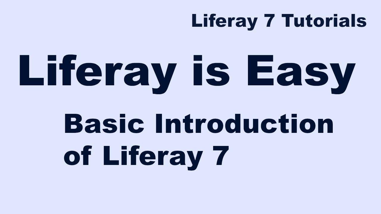 liferay tutorial for beginners pdf
