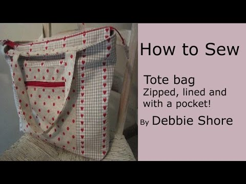 lined tote bag tutorial