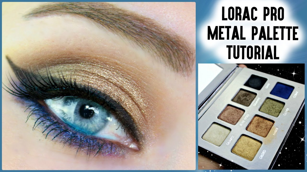lorac pro palette tutorial blue eyes