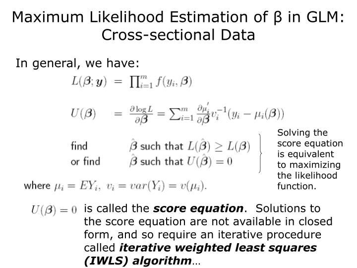 maximum likelihood estimation tutorial