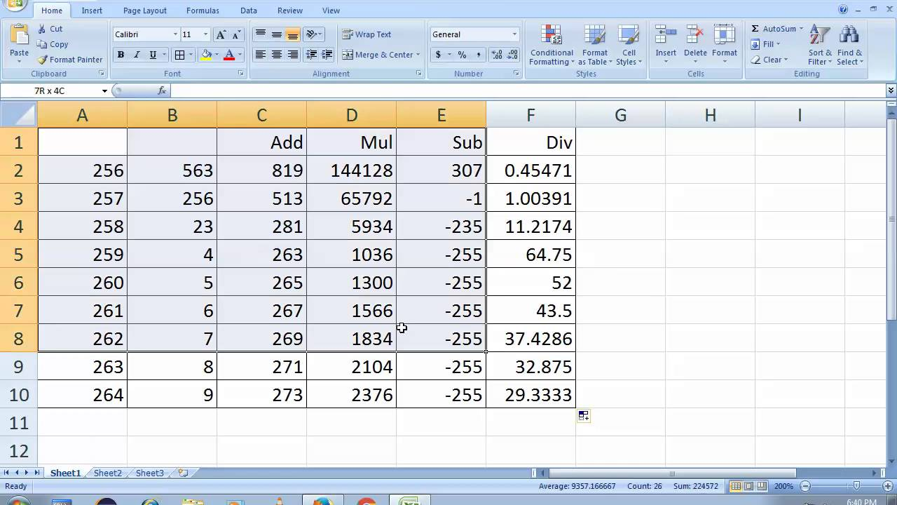 microsoft excel 2007 tutorial full