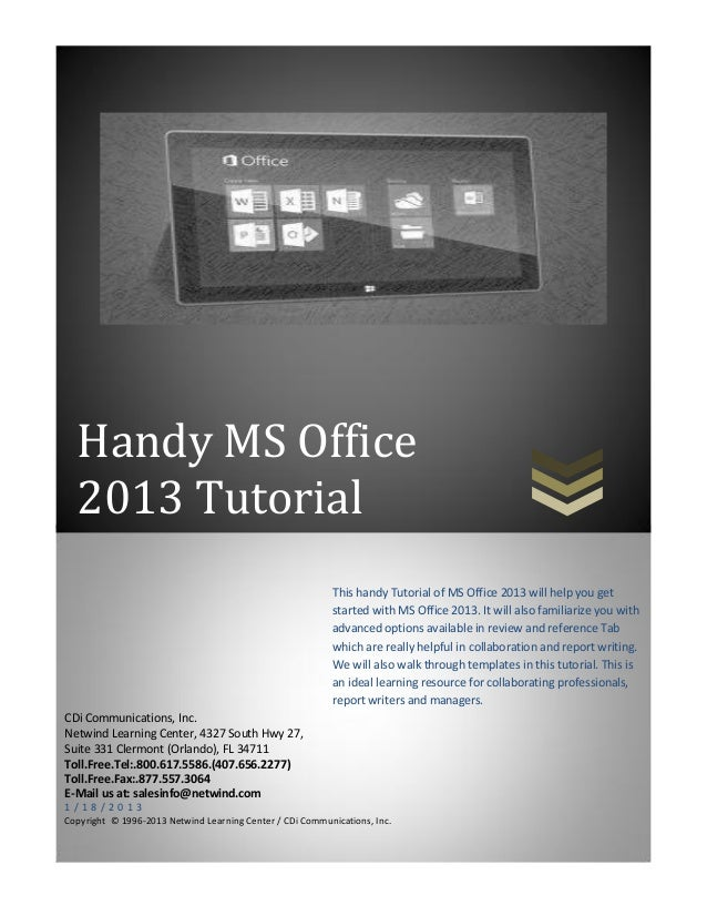microsoft excel 2013 tutorial videos