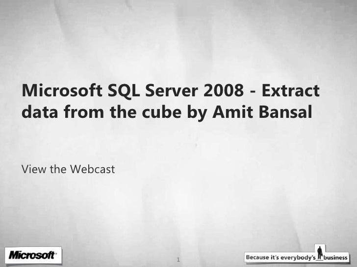 microsoft sql server 2008 tutorial