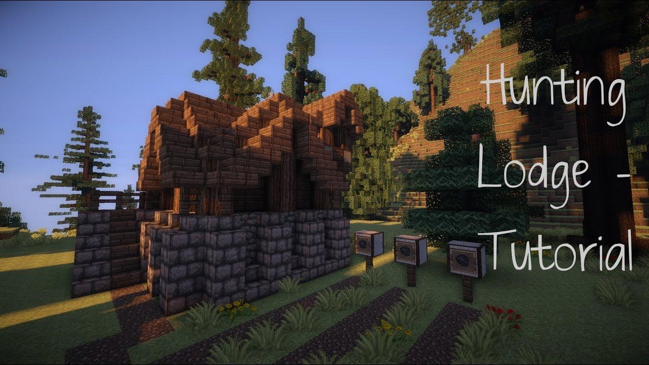 minecraft log cabin tutorial