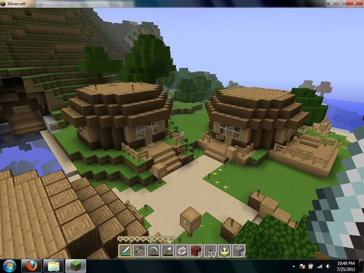 minecraft mountain house tutorial