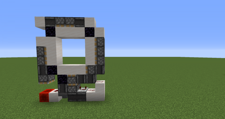 minecraft piston door tutorial