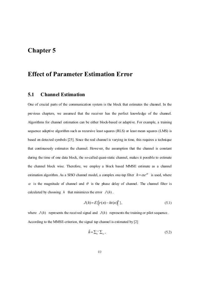 mmse channel estimation tutorial