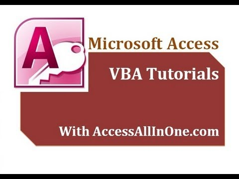 ms access tutorial for beginners pdf