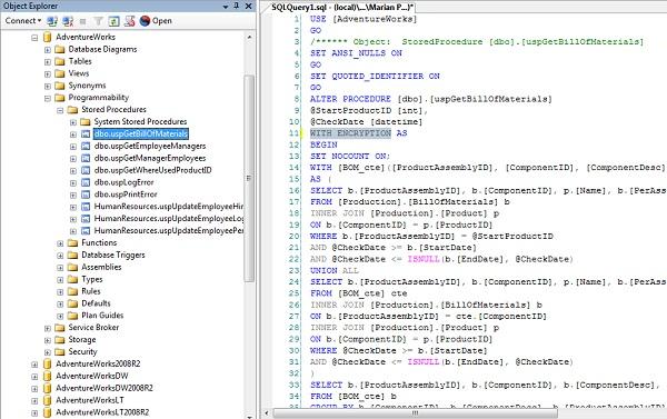 ms sql server stored procedure tutorial