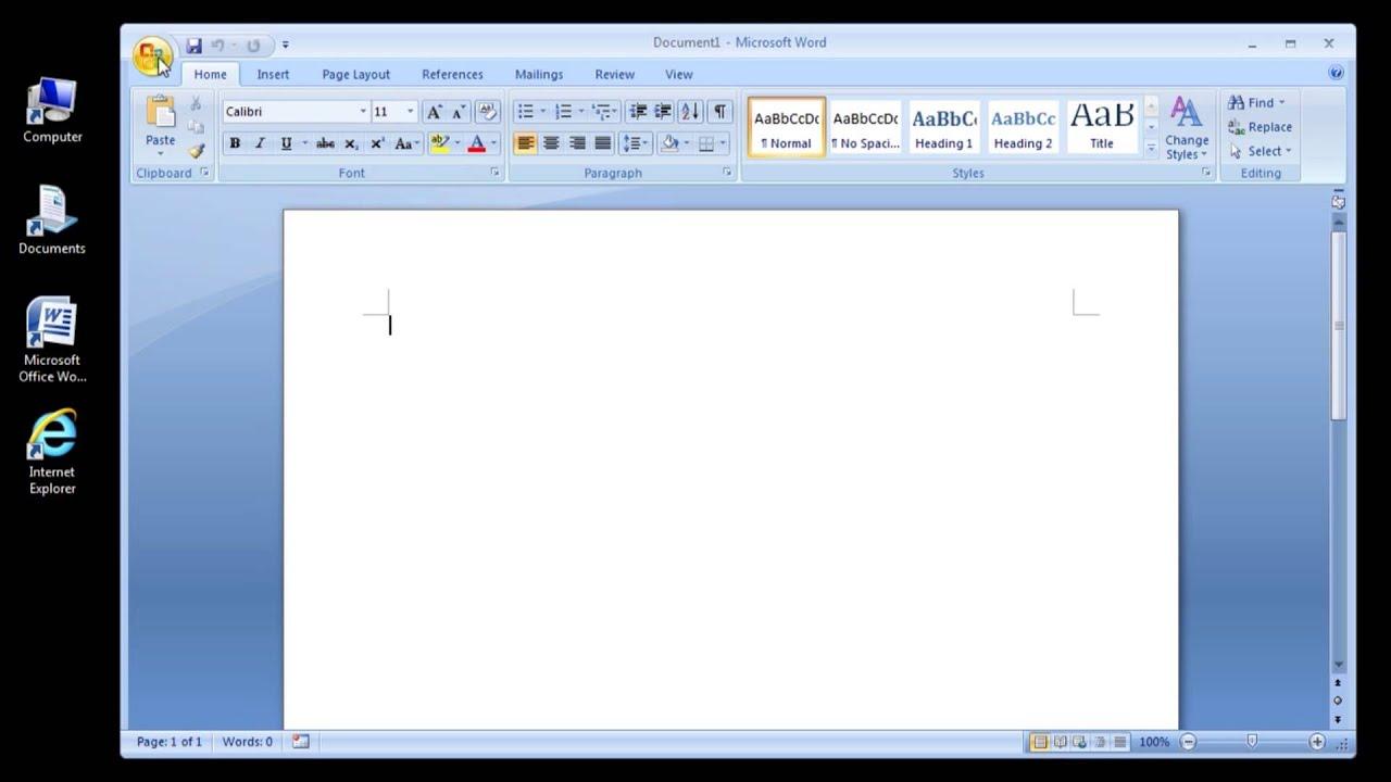 ms word video tutorial 2007