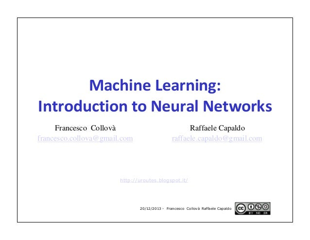 neural network machine learning tutorial
