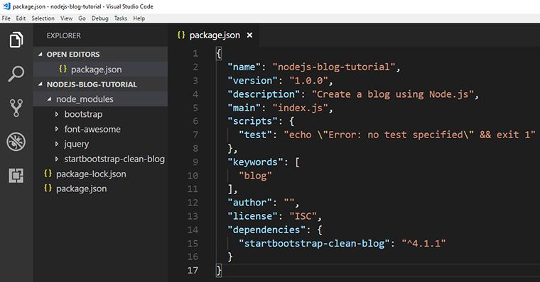 node js express bootstrap tutorial