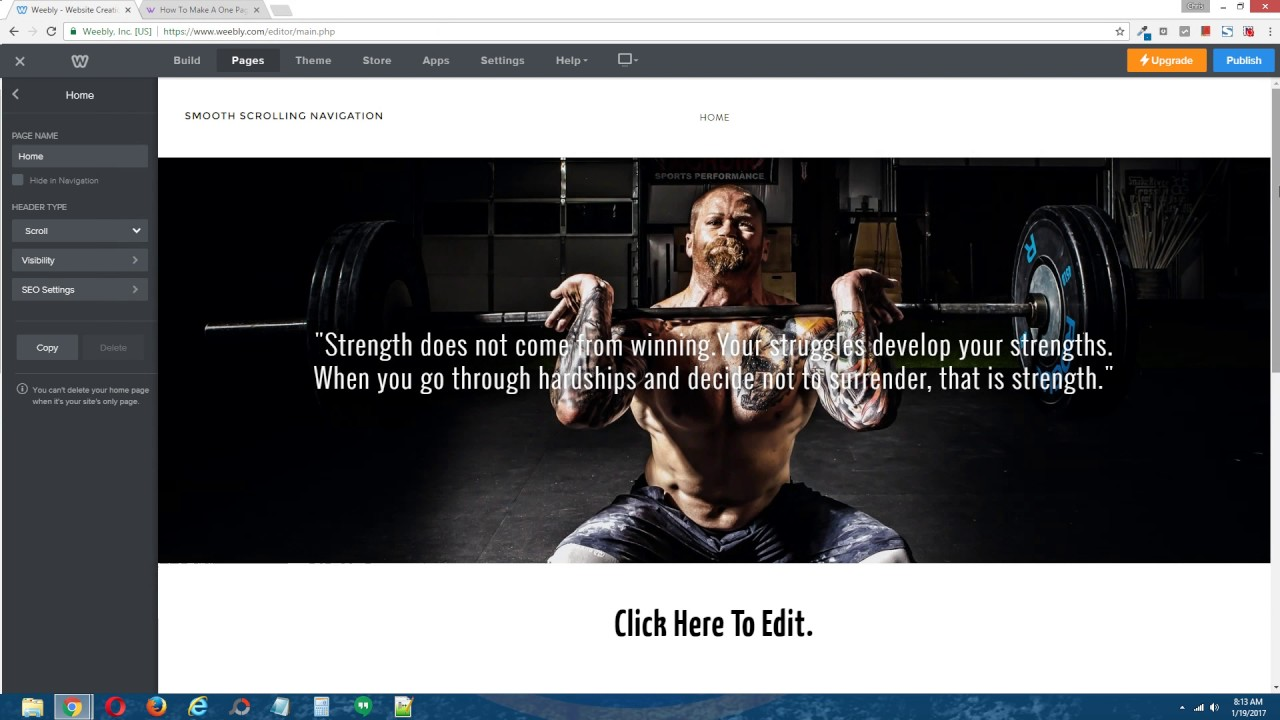one page scrolling website tutorial