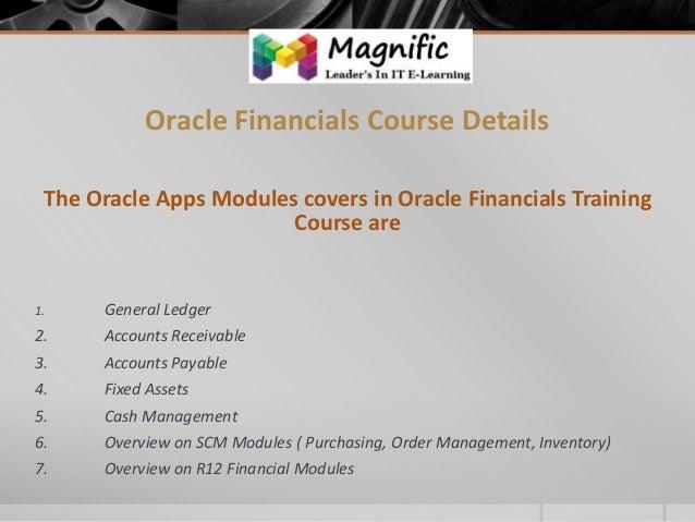 oracle finance module tutorial