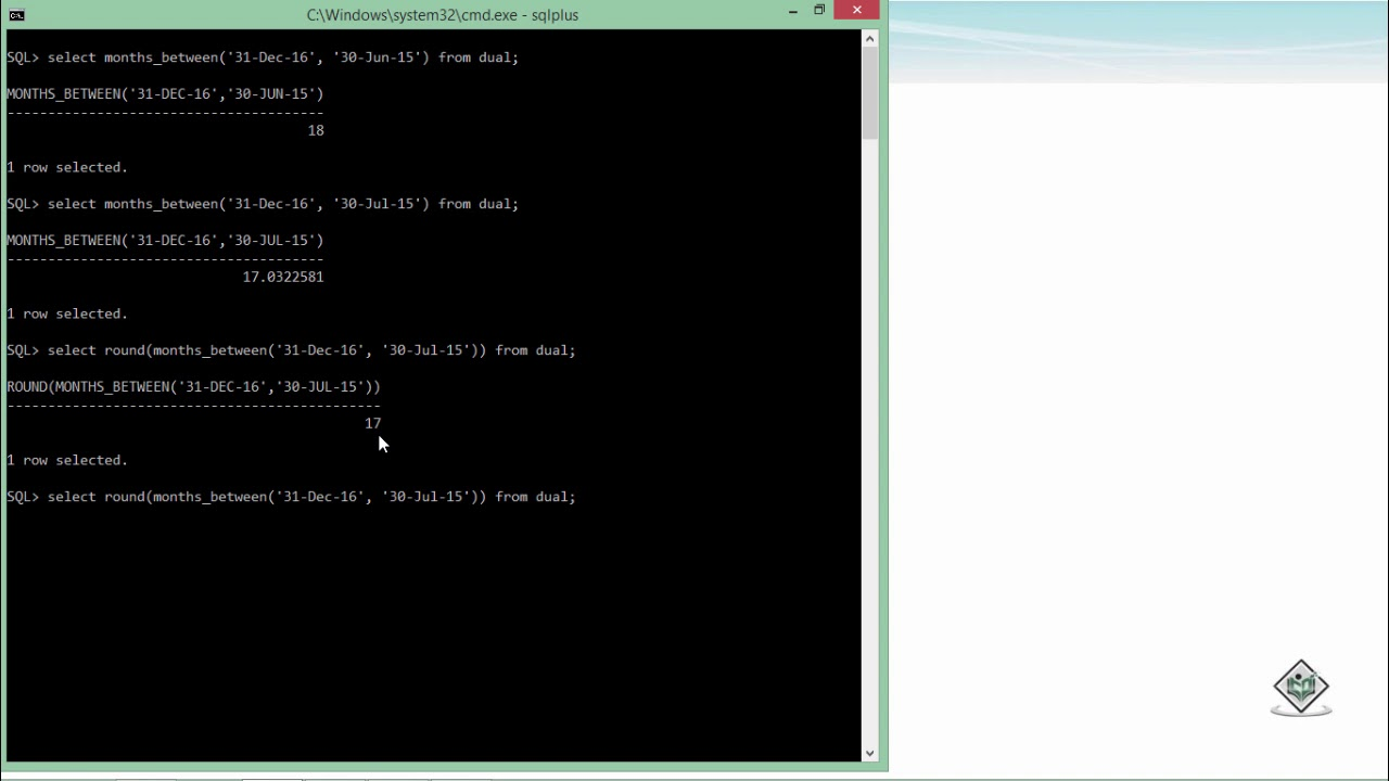 oracle sql tutorial point
