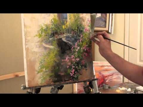 palette knife flower painting tutorial