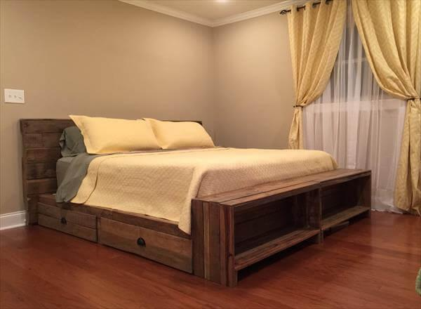 pallet bed with storage tutorial