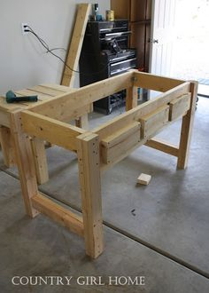 pallet sofa table tutorial