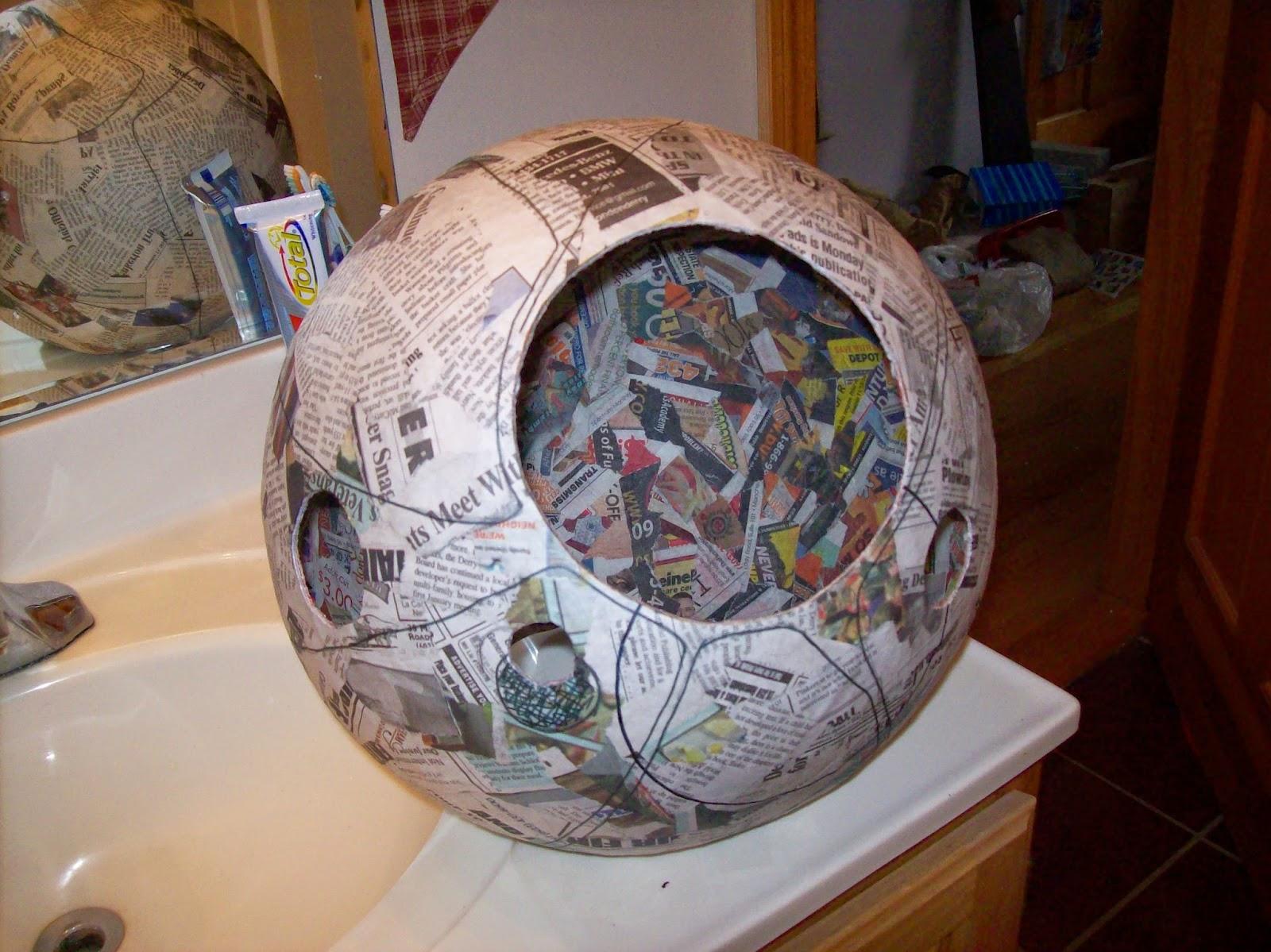 paper mache helmet tutorial