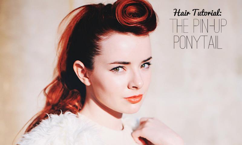 pin up long hair tutorial