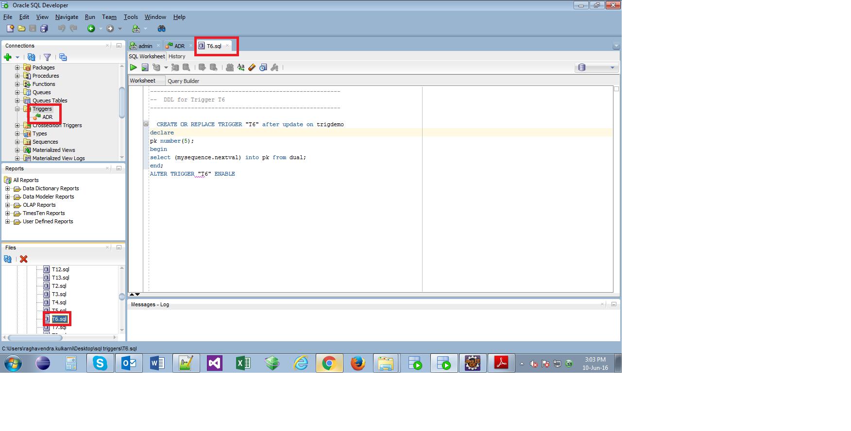 pl sql developer tool tutorial