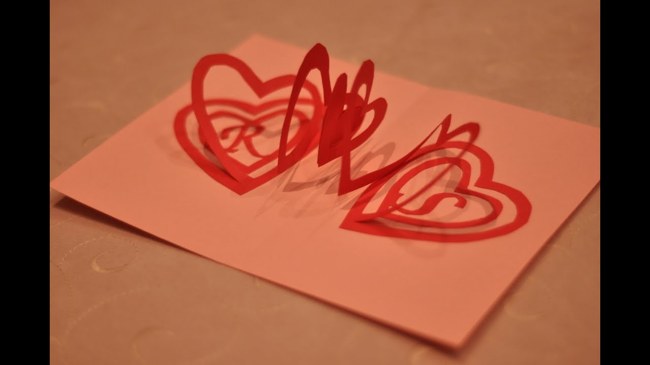 pop up heart card tutorial
