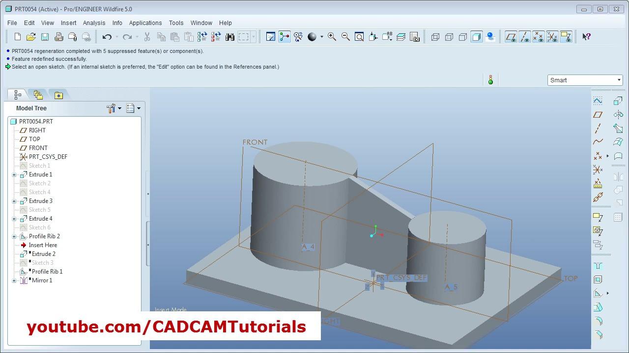 pro e manufacturing tutorial pdf