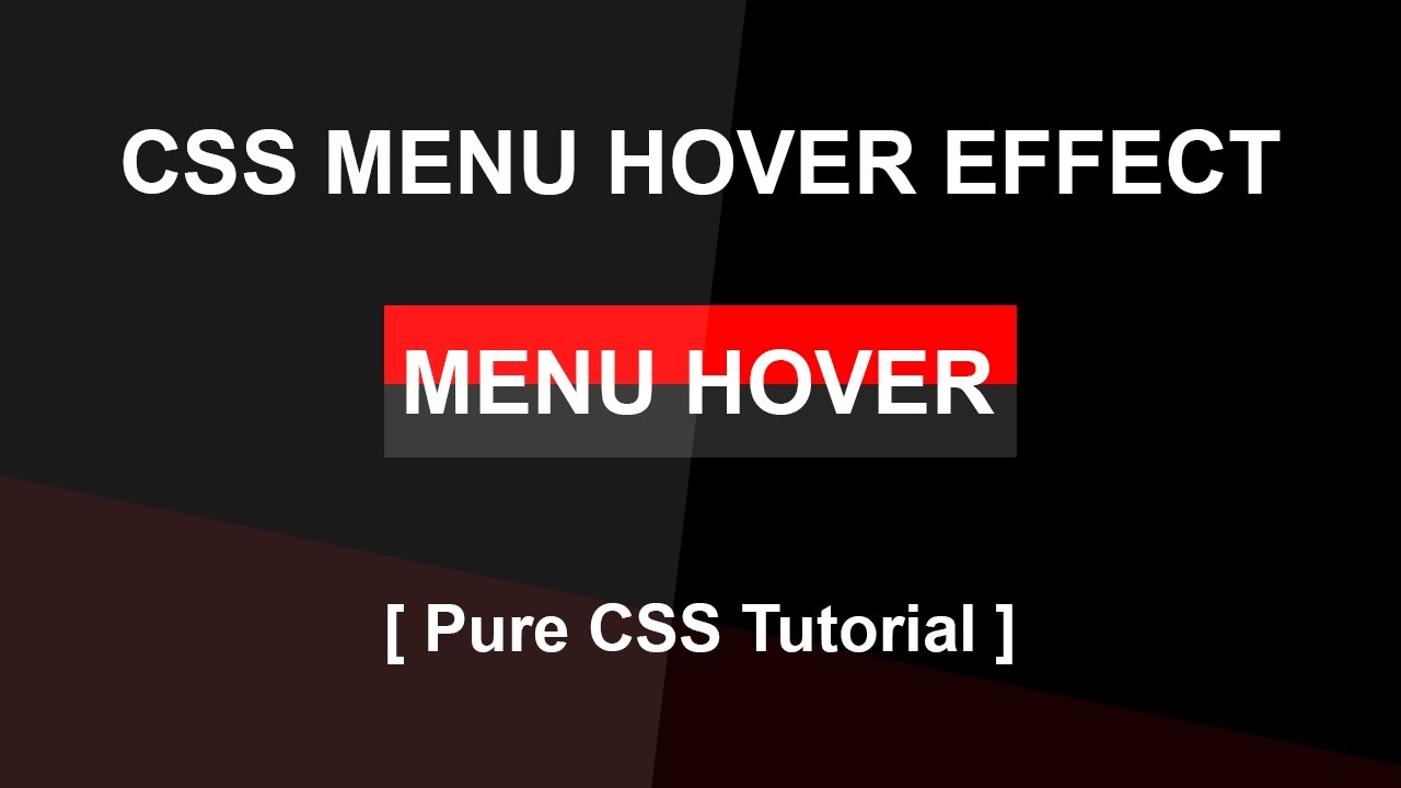 pure css menu tutorial