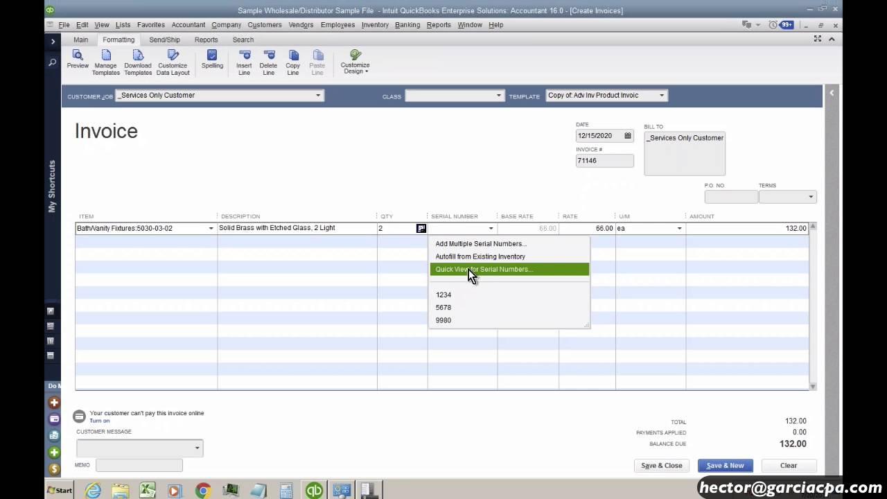 quickbooks advanced inventory tutorial