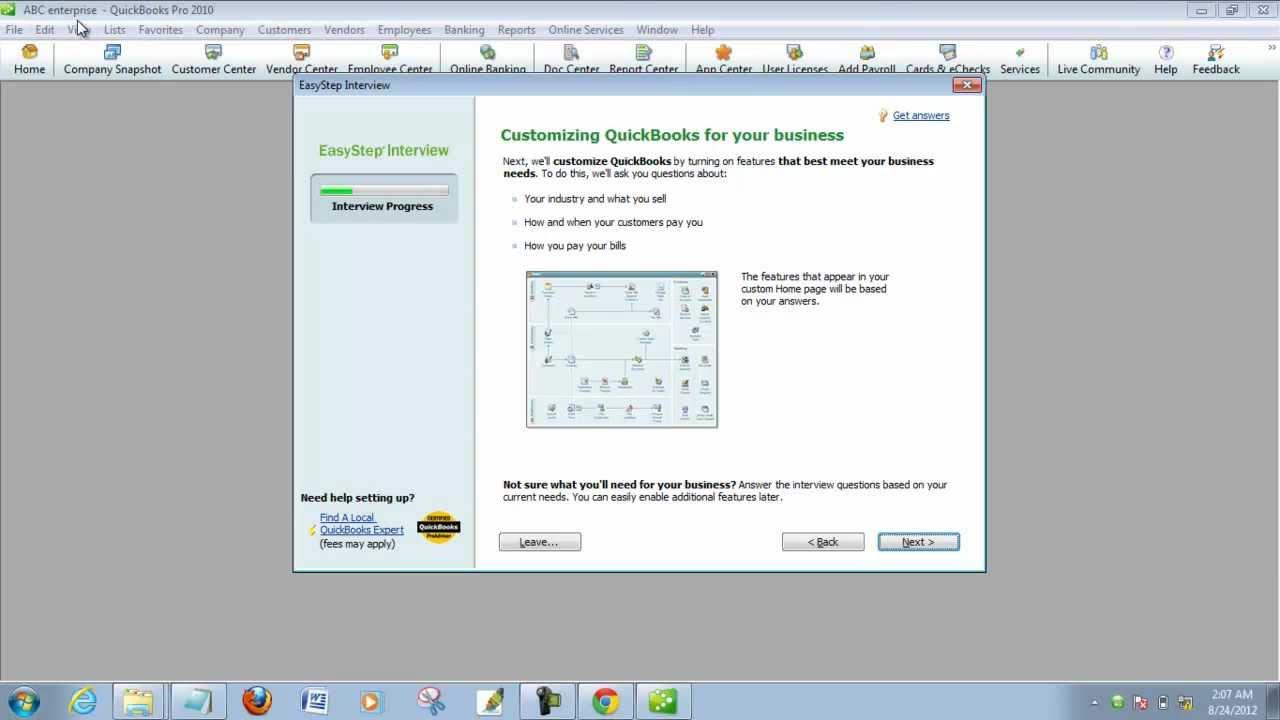 quickbooks pro 2010 tutorial