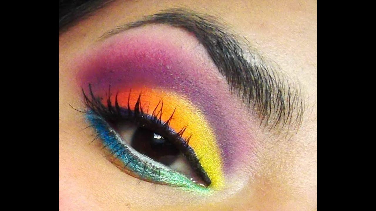 rainbow eye makeup tutorial
