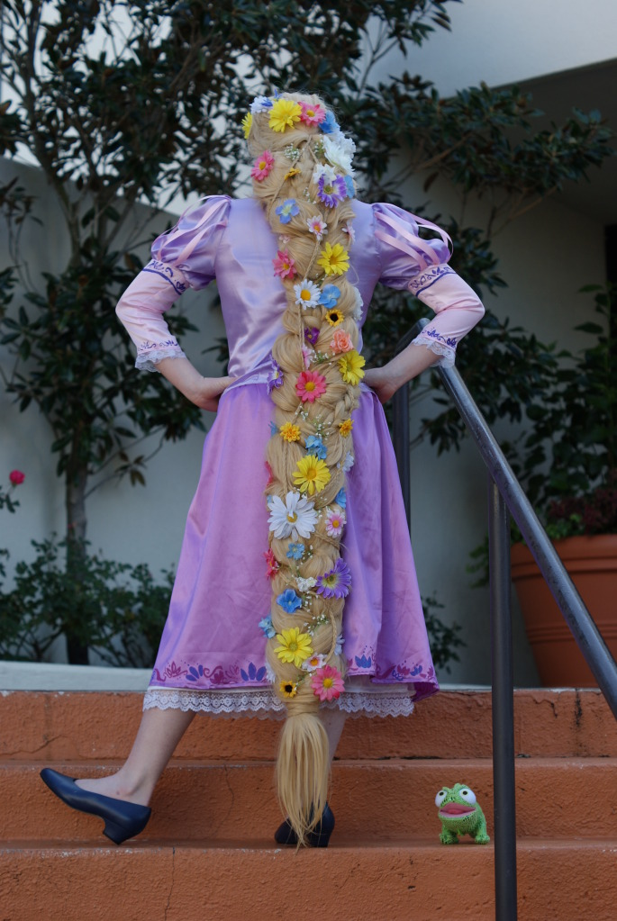 rapunzel cosplay wig tutorial