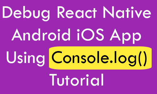 react native tutorial 2018