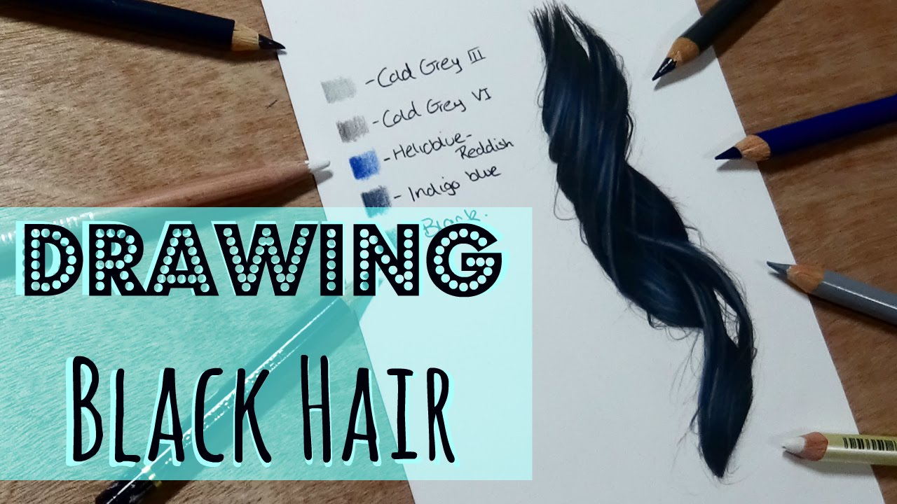 realistic hair drawing tutorial