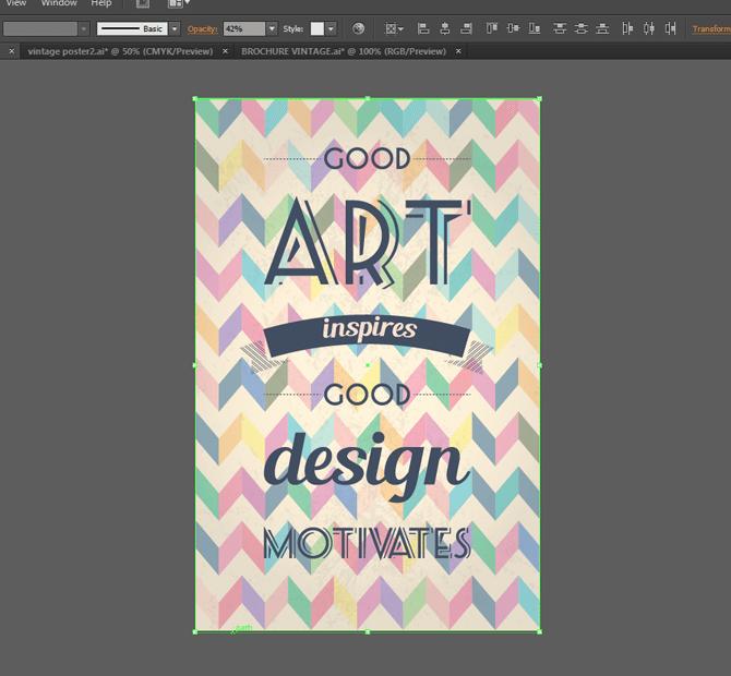 retro poster tutorial illustrator