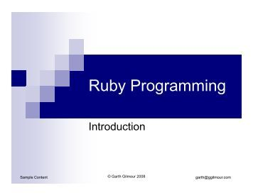 ruby programming language tutorial