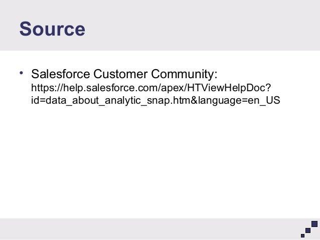 salesforce analytic snapshot tutorial