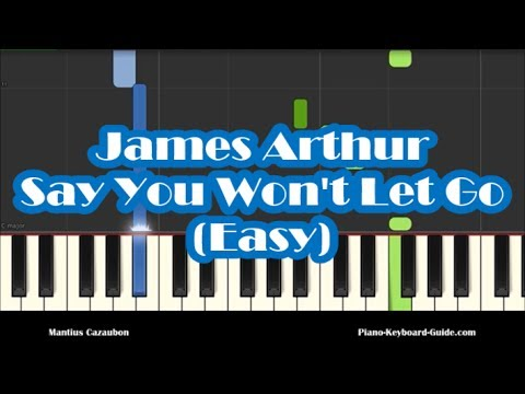 say you won t let go piano tutorial easy