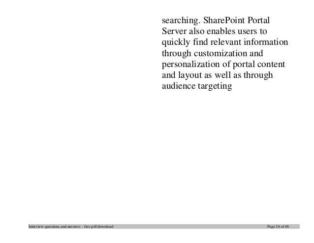 sharepoint tutorial pdf download