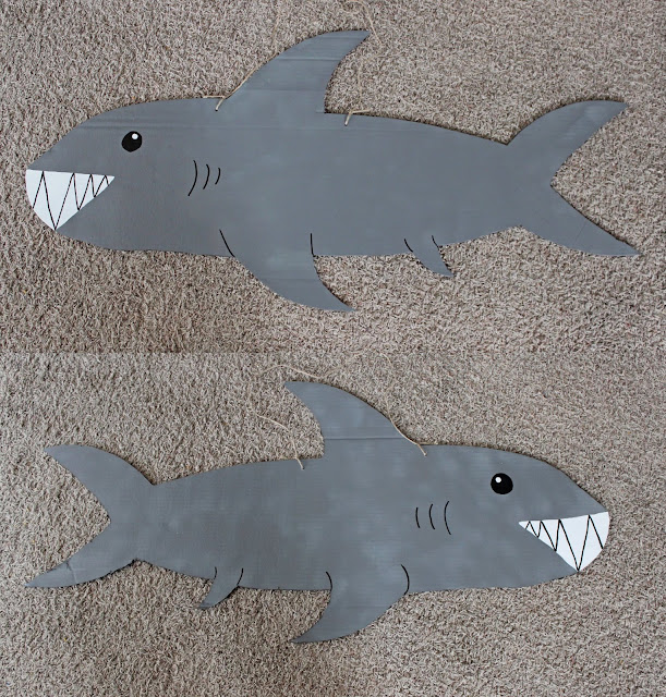 shark face painting tutorial