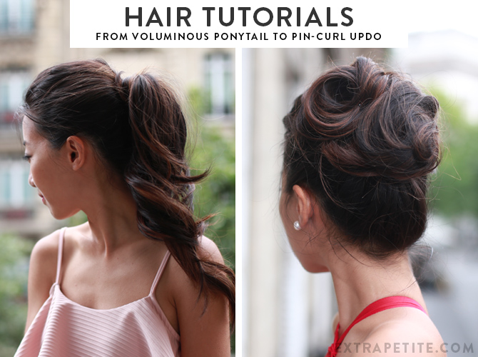 simple pin up hair tutorial