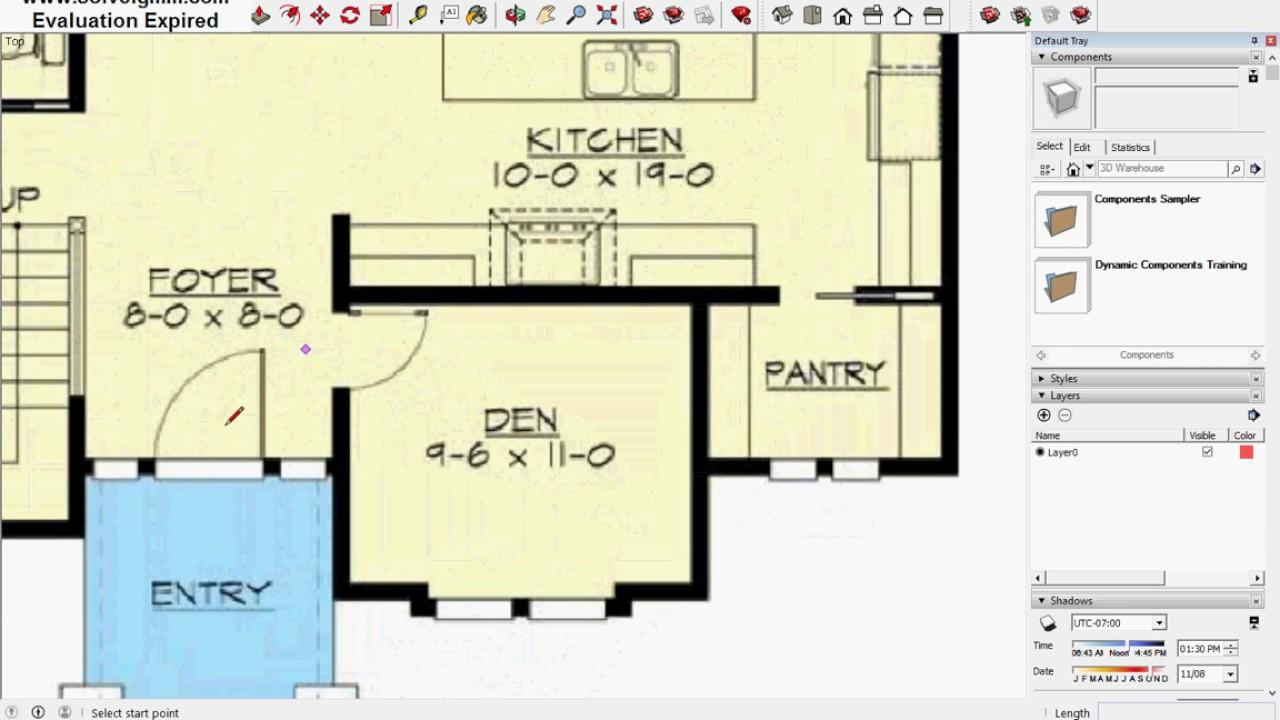 sketchup site plan tutorial