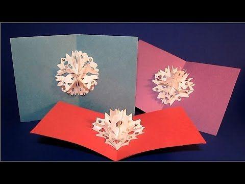 snowflake pop up card tutorial
