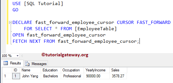 sql server cursor tutorial