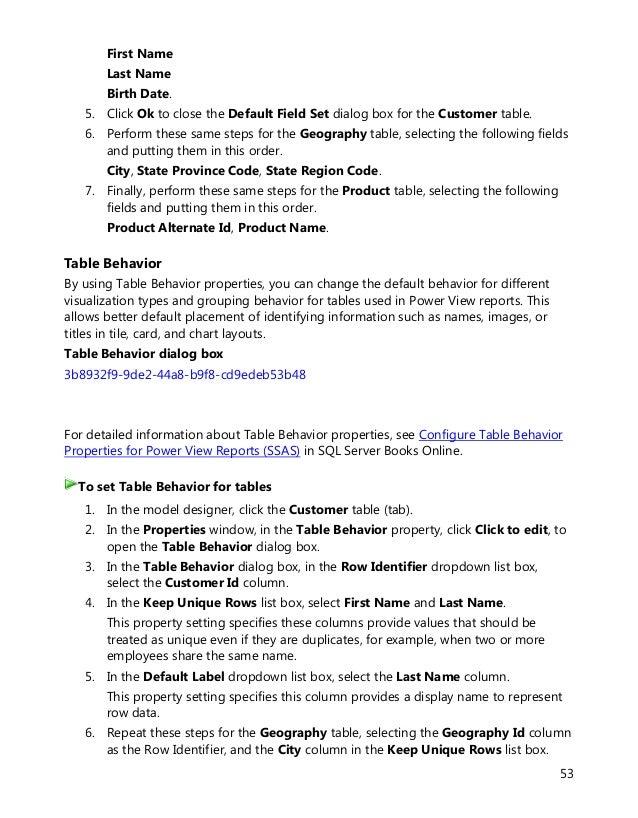 sql server tabular model tutorial