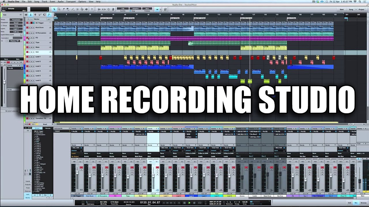studio one recording software tutorial
