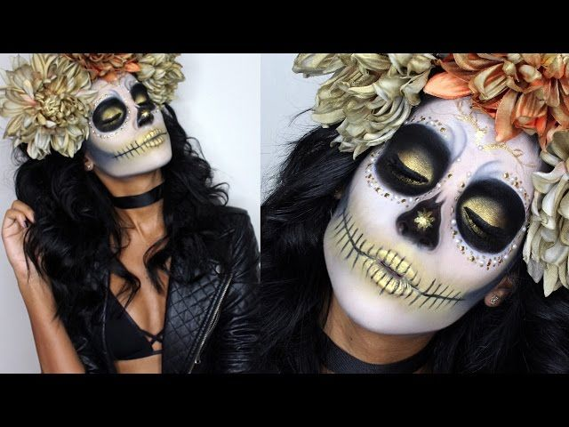 sugar skull halloween makeup tutorial