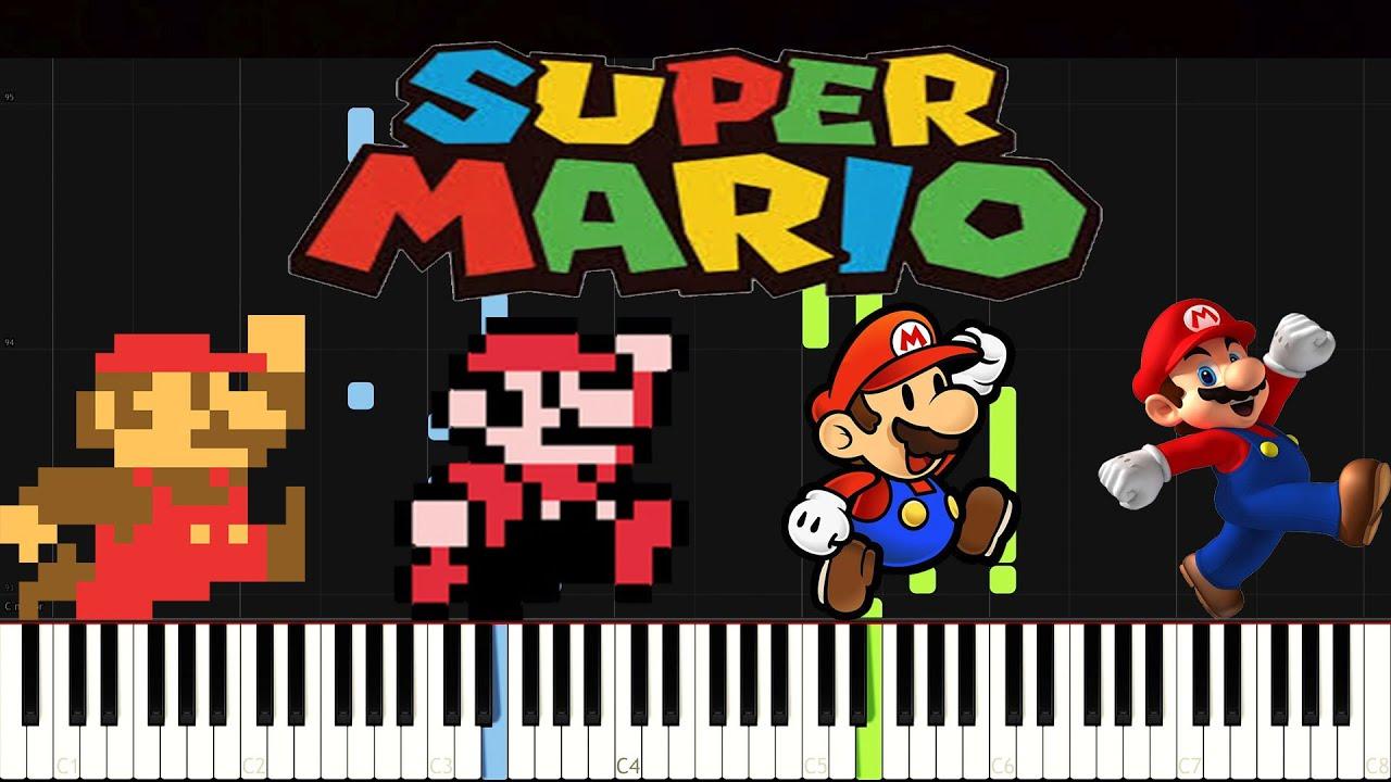 super mario bros piano tutorial