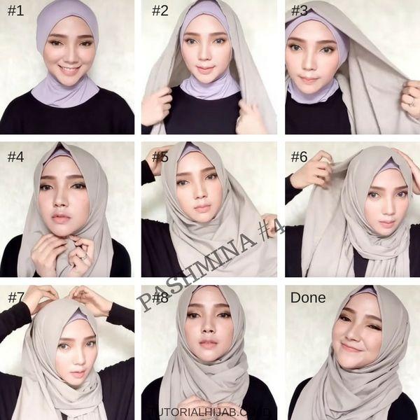 tutorial hijab simple untuk sehari hari